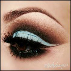 Gorgeous Makeup. vintage mint eyeliner and eyeshadow