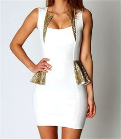 Love the gold, love the cut and style of this dress though!