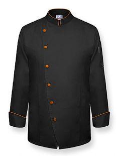 """""""THE DUKE"""" Chef Coat-Black"""