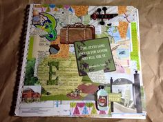 Collaged page in my Gluebook