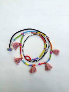 Boho Double Necklace with Tassels