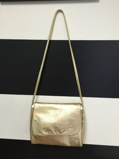 "North Star ""leather"" gold purse"