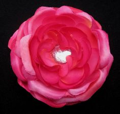 Pink Jewel Flower Hair Clip by ninjavspirategifts on Etsy, $8.00