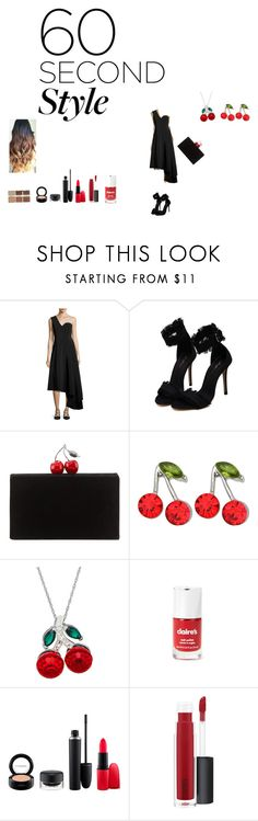 """""""asymmetric dress"""" by effyswanhaze ❤ liked on Polyvore featuring Rosetta Getty, Edie Parker, Kate Marie, MAC Cosmetics, tarte, asymmetricskirts and 60secondstyle"""