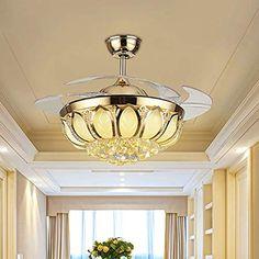 in stile industriale per ristoranti e salotti B-122cm Lampadario da soffitto dal design moderno r/étro con 5 ventole in ferro e LED