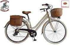 D VV Fahrrad Retrò citybike bike Cruiser frau damen alu aluminium beige | eBay