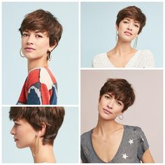 This Little Miggy Stayed Home: Should I Rock a Pixie Cut? earrings Should I Rock a Pixie Cut? Undercut Pixie Haircut, Short Pixie Haircuts, Pixie Hairstyles, Down Hairstyles, Short Hair Cuts, Pelo Pixie, Long Pixie, Cut My Hair, Pixies