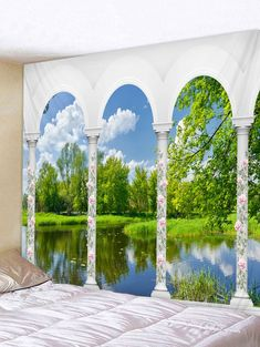 Cheap Wall Art Ideas for Home Decor Faux Brick Wall Panels, Brick Wall Paneling, Faux Brick Walls, Cheap Wall Tapestries, Tapestry Wall, Landscape Materials, Hanging Art, Cool Walls, Decoration
