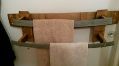 Barrel Towel Rack
