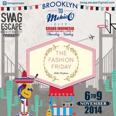 SAVE THE DATE!!! From 6th to 9th November 2014, The Fashion Friday will be on Grand Indonesia Exhibition Hall Level 5 ❤️ don't forget to visit our booth
