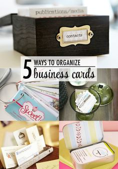 An alternative to throwing peoples cards in a drawer or recycling 5 ways to organize business card office organization ideas reheart