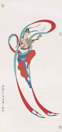 Dunhuang, Polynesian Art, Japanese Illustration, Sketch Painting, Chinese Painting, Traditional Art, Asian Art, Buddhism, Oriental