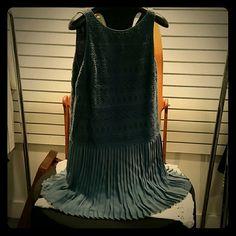 Ann Taylor LOFT Sample Dress Sleeveless dress with pleated  bottom. This is a SAMPLE LOFT Dresses Midi
