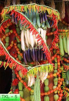 Pahiyas Festival 2 Fiesta Decorations, Filipino, Philippines, Dinner, Vegetables, Food, Art, Dining, Art Background