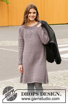 Free knitting patterns and crochet patterns by DROPS Design Drops Design, Knitting Patterns Free, Knit Patterns, Free Knitting, Crochet Skirts, Knit Crochet, Crochet Design, Magazine Drops, Drops Patterns
