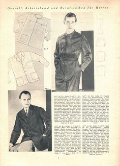 "Illustrierte Wäsche- und Handarbeits-Zeitung 1935 heft 1. Model 869: chest 41"" (104 cm). Model 118: chest 35"" (90 cm). Model 128: chest 41"" (104 cm). Model 127: chest 47"" (120 cm). PDF sewing patterns for these models available upon request, please contact me for more information."