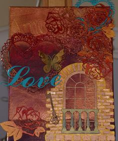 """It's simple. It's direct. Love isn't complicated, though a lot of us tend to let it get that way. This mixed media piece is a 9"""" x 12"""" canvas with a 1 3/8"""" profile holding as solid wood frame. The bac"""