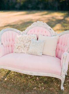 Photography: Ruth Eileen - rutheileenphotography.com  Read More: http://www.stylemepretty.com/2014/01/01/pink-and-gold-wedding-inspiration/. also my future couch