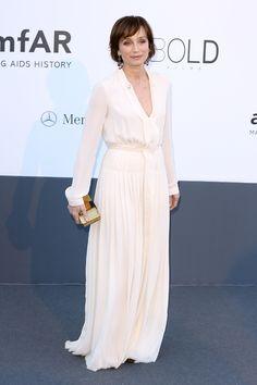 Kristin Scott Thomas de Lanvin en la gala amfAR 2013