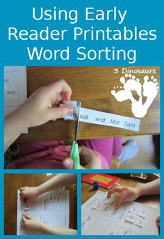 Using Early Reader Printables: Word Sorting - 3Dinosaurs.com