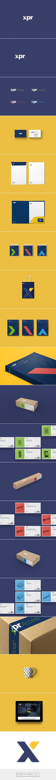 XPR. Corporate identity. on Behance - created via https://pinthemall.net
