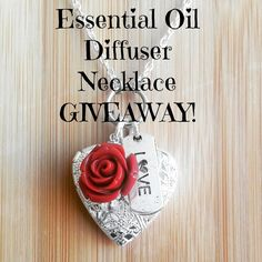 Aromatherapy Diffuser Necklace GIVEAWAY! www.Facebook.com/essentiallyelegant