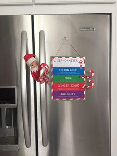 FREE Elf on the Shelf Behavior Chart Printable. Get the FREE Cheer-O-Meter on Frugal Coupon Living. Daily Elf on the Shelf Ideas every day in November and December.