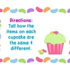 Cupcake Compare/Contrast 18 cupcake cards with seasonal word pairs that can be used for having students explain similarities and differences. Articulation Activities, Speech Therapy Activities, Language Activities, Classroom Activities, Speech Pathology, Speech Language Therapy, Speech And Language, Easter Speeches, Spring School
