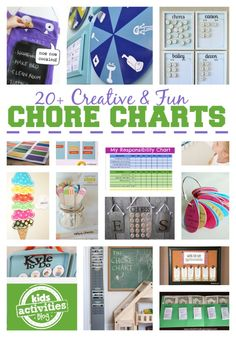 20 Chore Charts for Kids - Kids Activities Blog