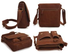 Image of Handmade Superior Crazy Horse Leather Messenger Bag Satchel / iPad Bag Leather Briefcase, Leather Crossbody Bag, Leather Handbags, Leather Wallet, Bible Bag, Bags 2015, Ipad Bag, Leather Bags Handmade, Leather Projects