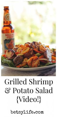 Grilled Shrimp and Idaho® Potato Salad {Video}