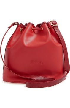 Longchamp \u0027Small 2.0\u0027 Leather Bucket Bag