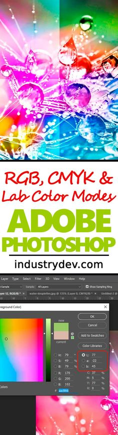 The Difference Between RGB, CMYK & Lab Color Modes in Adobe Photoshop: Color modes inside of Adobe Photoshop are those things we'd all like to ignore. Believe it or not, you can actually use color modes to your advantage, just like I demonstrated in my latest article. So, if you're interested in learning a bit more about the RGB, CMYK and Lab color modes while working on Photoshop, click through to read this very exciting and easy to understand post.
