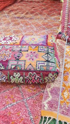 Old floor cushion boujaad made it couch