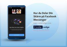 Facebook Messenger på iOS och Android har uppgraderats med möjlighet för användare att dela sin skärm med andra. #Digitalmarknadsföring #marknadsföringstips #socialamedier #socialamedier #Facebookmarknadsföring #Facebookuppdateringar #marknadsföringsstrategi #CodeLedge #waxjo #vaxjo #waxjokommun #Sweden Facebook Marketing, Social Media Marketing, Digital Marketing, Facebook Messenger, Ios, Android, Coding, Sweden, Programming