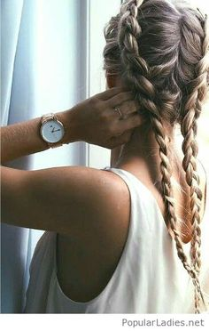 Awesome two braids and accessory
