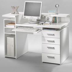 Tvilum Whitman Plus Computer Desk, White