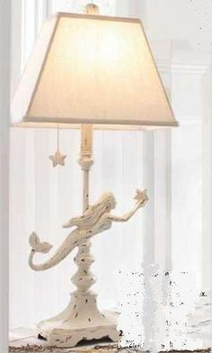 Mermaid Lamp  #PCHDreamSummerBedroom