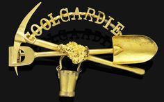Bonhams 1793 : An antique Australian gold brooch, Romantic Period, Western Australia, Perth Australia, Royal Jewelry, Gold Brooches, Love Is Free, Aboriginal Art, Ancient Artifacts, Antique Jewelry