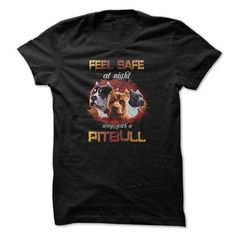 Pitbull t-shirt - Feel safe with pitbull - #movie t shirts #best sweatshirt. BUY TODAY AND SAVE => https://www.sunfrog.com/Pets/Feel-safe-with-pitbull.html?id=60505
