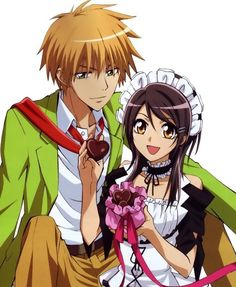 OMIGOSH I LOVE THIS ANIME! It's a non-cheesy Harem Romance/Comedy called Kaicho Wa Maid Sama. The characters, story and music are so endearing. EEEEEEE! XDXDXD