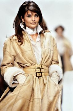 Helena Christensen walks the runway during the Dior Ready to Wear. - PARIS, FRANCE – MARCH: Helena Christensen walks the runway during the Dior Ready to Wear show as - Aesthetic Fashion, Look Fashion, 90s Fashion, Runway Fashion, Fashion Models, Winter Fashion, Vintage Fashion, Fashion Outfits, Womens Fashion
