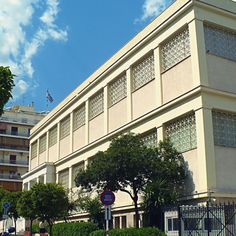 The strict Archaeological Museum of Piraeus. Athens, The Locals, Greece, Multi Story Building, Walking, Museum, Mansions, House Styles, City