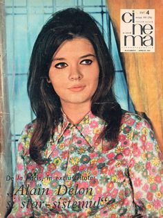 "Romanian actress Irina Gărdescu. Front cover of ""Cinema"" magazine (April 1969)"