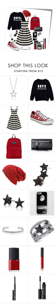 """//Boys with Blue Eyes\\"" by kai-noel ❤ liked on Polyvore featuring Post-It, Warehouse, Converse, JanSport, Marc Jacobs, Alinka, Bling Jewelry and NARS Cosmetics"
