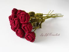 Romance Rose Bouquet: for home decor, gift, wedding bouquet, party decor, decoration,  etc. by LaLehCrochet on Etsy