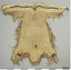 Blackfoot dress ca. 1840.  Coll. at Ft. McKenzie by Count D'otranto.  Ethnographic Mus. Stockholm