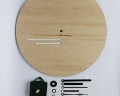 Wooden Wall Clock LILY Kit DIY Project Kit Pendulum | Etsy Wooden Clock Kits, Wall Clock Kits, Wooden Gears, Steampunk Clock, Pendulum Clock, Unique Clocks, Large Clock, Wooden Walls, Diy Kits