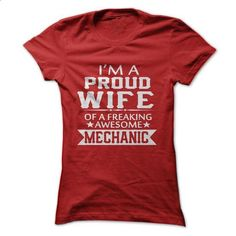 IM A PROUD MECHANICS WIFE - #sleeveless hoodie #funny tees. PURCHASE NOW => https://www.sunfrog.com/LifeStyle/IM-A-PROUD-MECHANICS-WIFE.html?60505