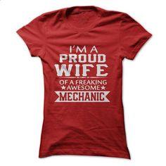 IM A PROUD MECHANICS WIFE - #sleeveless hoodie #funny tees. PURCHASE NOW => https://www.sunfrog.com/LifeStyle/IM-A-PROUD-MECHANICS-WIFE.html?60505